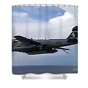 An Ea-6b Prowle In Flight Shower Curtain