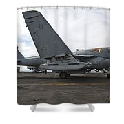 An Ea-6b Prowler Prepares To Launch Shower Curtain by Stocktrek Images