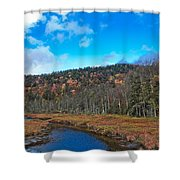 An Early Fall Day At Cary Lake Shower Curtain
