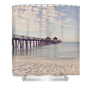 An Early Morning - Naples Pier Shower Curtain