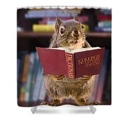An Educated Squirrel Shower Curtain