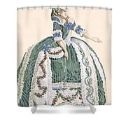 An Elaborate Royal Court Gown, Engraved Shower Curtain