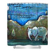 An Elephant For You Shower Curtain