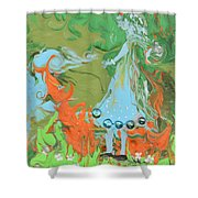 An Elf In Wonderland Shower Curtain