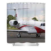 An Embraer Legacy 600 Private Jet Shower Curtain
