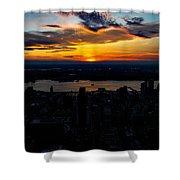 An Empire Sunset Shower Curtain
