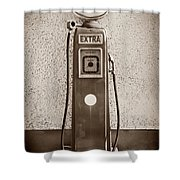 An Esso Petrol Pump From The First Half Shower Curtain
