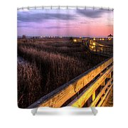 An Evening At The Marsh Shower Curtain