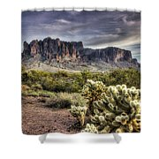 An Evening At The Superstitions Shower Curtain