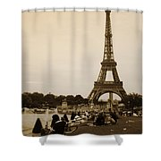 An Evening At The Tower Shower Curtain