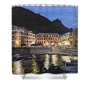 An Evening In Vernazza Shower Curtain
