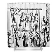 An Execution Of Witches In England Shower Curtain