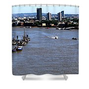 An Expansive View From The Tower Bridge Shower Curtain