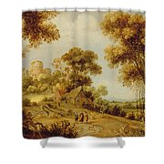 An Extensive Wooded Landscape Shower Curtain