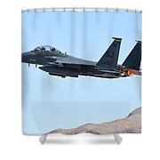 An F-15e Strike Eagle Taking Shower Curtain