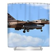 An F-16c Fighting Falcon From 64th Shower Curtain
