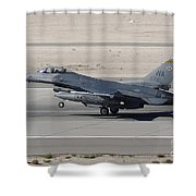 An F-16c Fighting Falcon Taking Shower Curtain