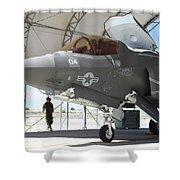 An F-35b Lightning II During Preflight Shower Curtain