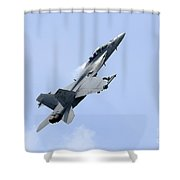 An Fa-18 Super Hornet Of The U.s. Navy Shower Curtain