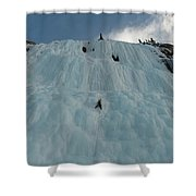 An Ice Climber In The Middle Shower Curtain