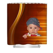An Image Of A Photograph Of Your Child. - 05 Shower Curtain