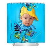 An Image Of A Photograph Of Your Child. - 06 Shower Curtain