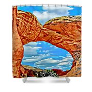 An Impression Of Arches National Park Shower Curtain