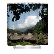 An Indigenous Village In The Jungles Shower Curtain