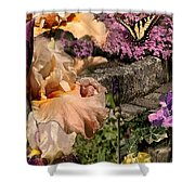 An Iris Surprise Center Shower Curtain