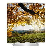 Sunset Over The Hill. Shower Curtain