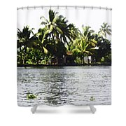 An Isolated Cottage On A Small Piece Of Land Shower Curtain