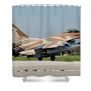 An Israeli Air Force F-16c Shower Curtain