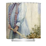 An Italian Peasant Girl Shower Curtain by Ada M Shrimpton