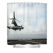 An Mv-22 Osprey Is Guided Onto Shower Curtain by Stocktrek Images