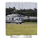 An Nh90 Helicopter Of The Italian Navy Shower Curtain