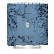 An October Moon Shower Curtain