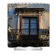 An Old Balcony In Syracuse Shower Curtain