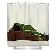 An Old Barn In Northeast Montana Shower Curtain