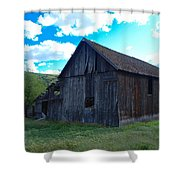 An Old Barn In The Sage Shower Curtain