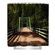An Old Bridge Crossing The Seleway River  Shower Curtain
