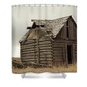 An Old Cabin In Eastern Montana Shower Curtain
