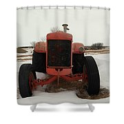 An Old Dase Tractor Shower Curtain
