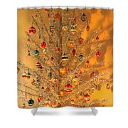 An Old Fashioned Christmas - Aluminum Tree Shower Curtain