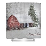 An Old Fashioned Merry Christmas Shower Curtain