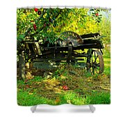 An Old Harvest Wagon Shower Curtain
