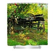 An Old Harvest Wagon Shower Curtain