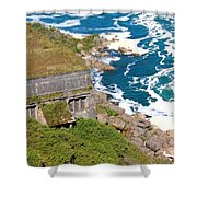 An Old  Hydroelectric Generating Station Shower Curtain