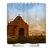 An Old Mission In Northeastern Montana Shower Curtain