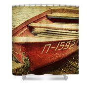 An Old Row Boat Shower Curtain
