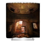 An Old Ruined Building Shower Curtain